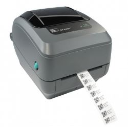 Impresora Zebra GK420T con Print Server y Dispensador