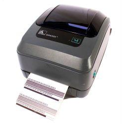 Impresora Zebra GX430T con Print Server y Dispensador