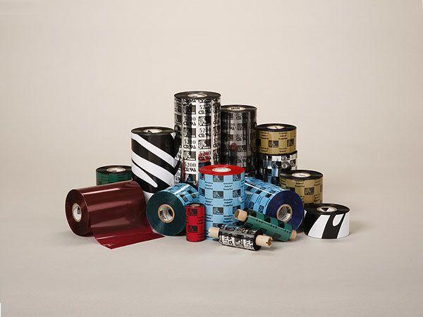Rollo de Ribbon Zebra 40mm 3400 High Performance Cera/Resina 450M para Impresoras Industriales