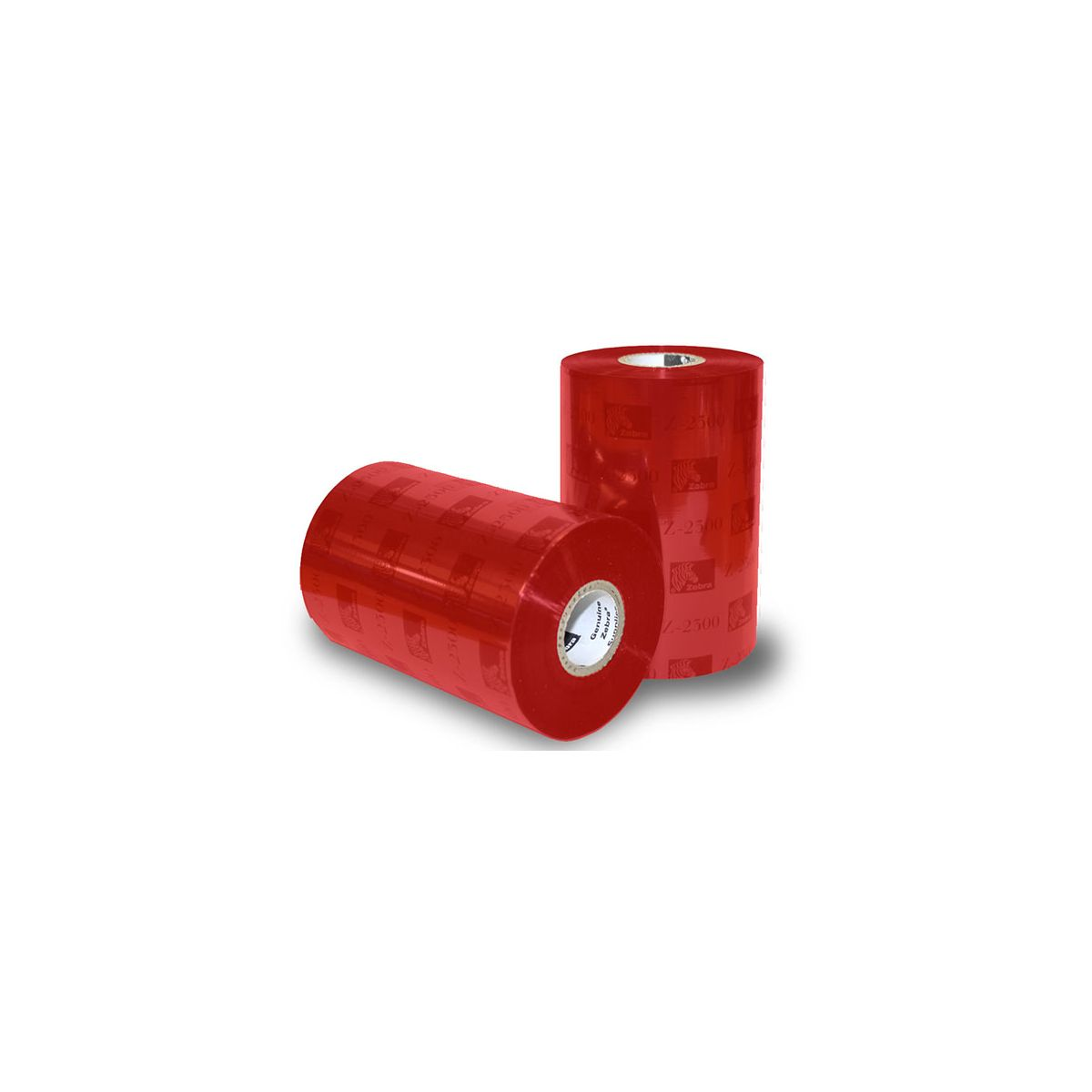 Rollo de Ribbon Zebra 110mm 5319 Colour Red Performance Cera 450M para Impresoras Industriales