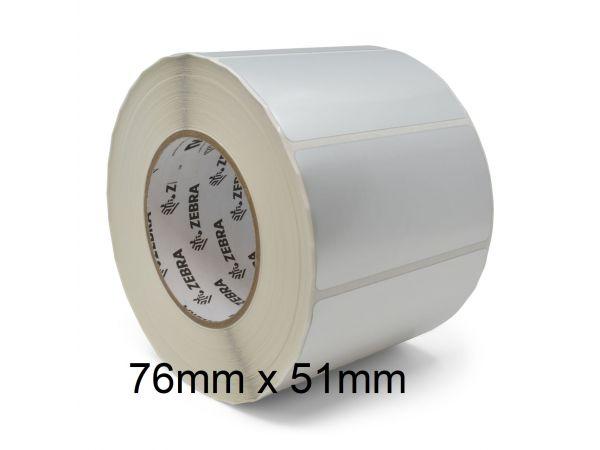 Rollo de etiquetas adhesivas Zebra 76mm x 51mm Z-Perform 1000D