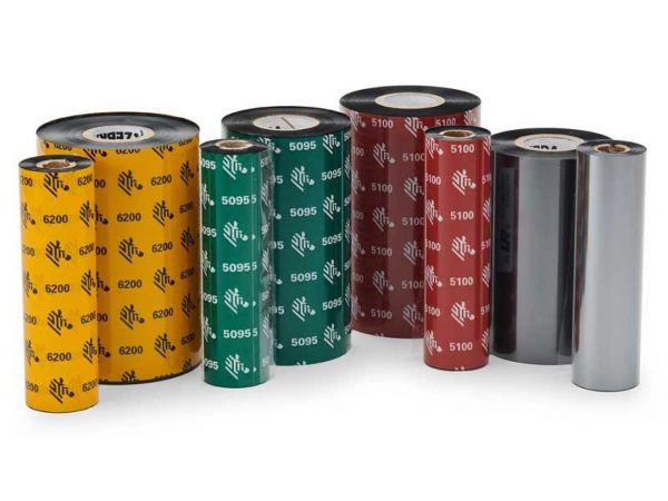 Rollo de Ribbon Zebra 110mm 5100 Premium Resina 450M para Impresoras Industriales